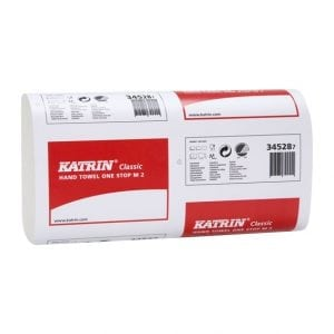 Katrin Classic One stop M2 paper Towels 2ply White 3360 Sheets (345287)