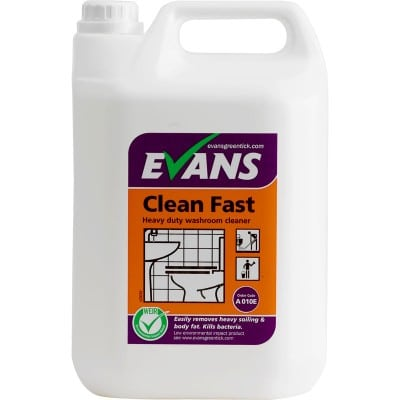 Evans Clean Fast Heavy Duty Washroom Cleaner 5L