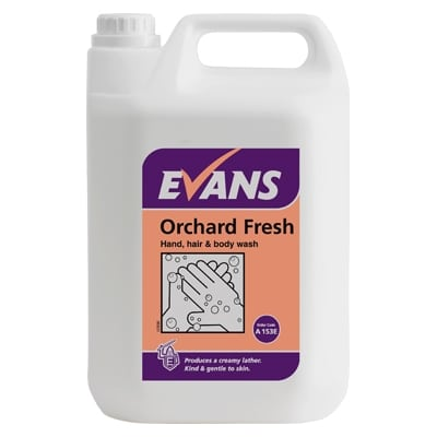 Orchard Fresh Hand, Body Wash and Hair Shampoo 5L